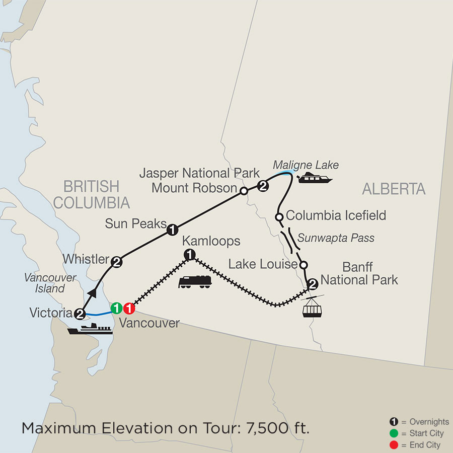 Majestic Rockies with the Rocky Mountaineer