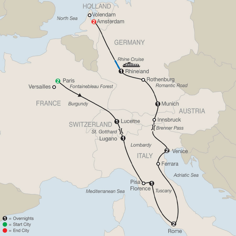 Continental Introduction map