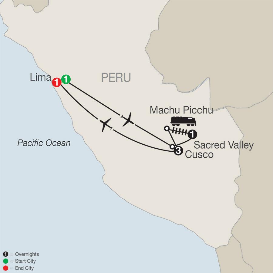 Peru Escape map