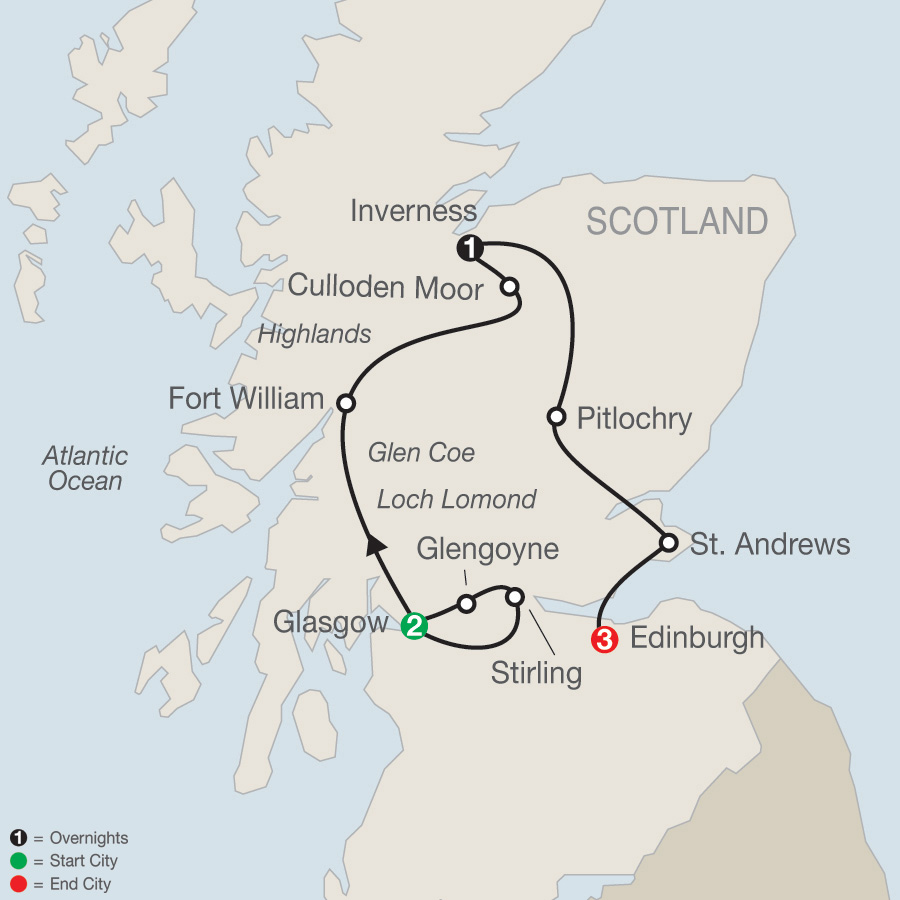 Scottish Escape map