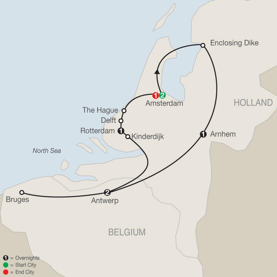 Dutch Escape map