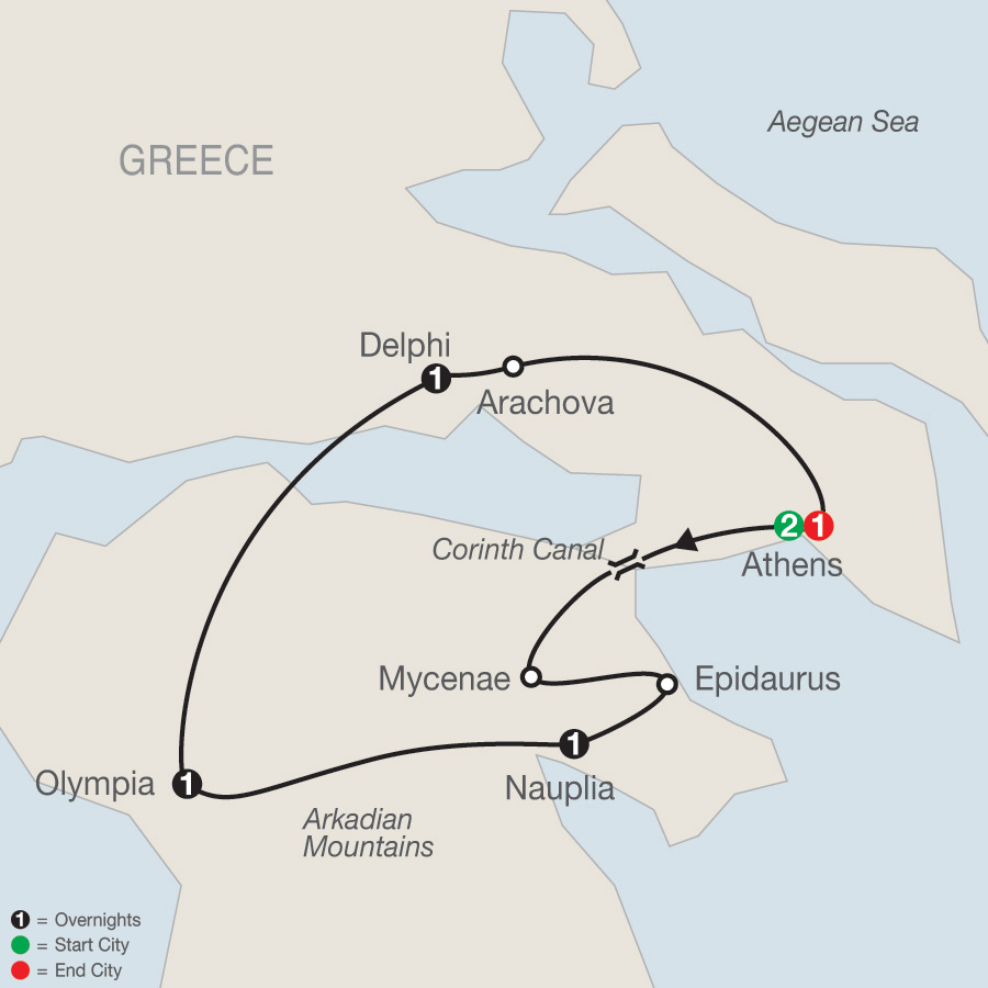 Greek Escape map
