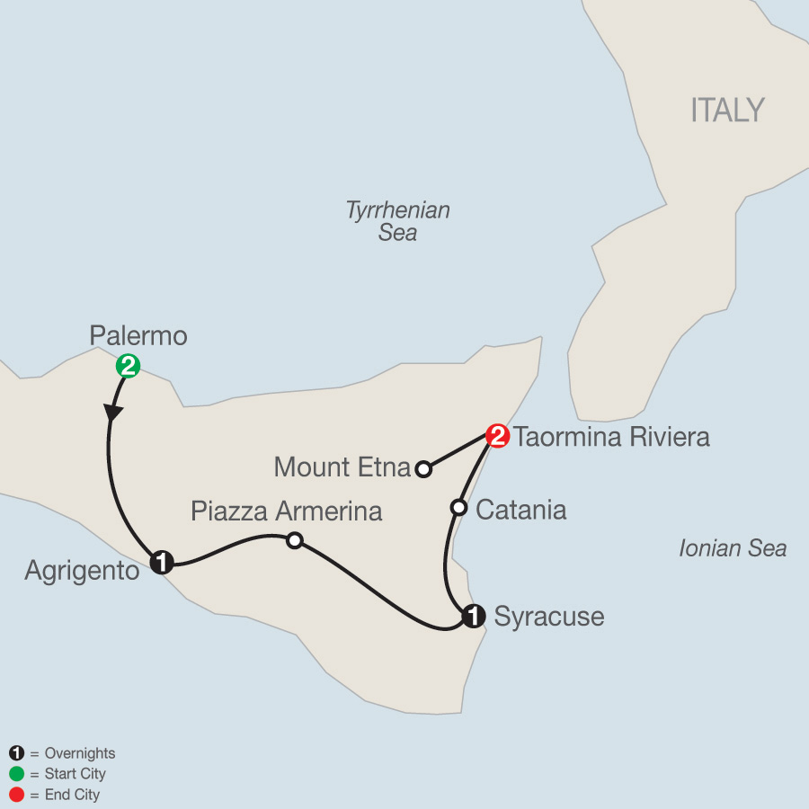 Sicilian Escape map