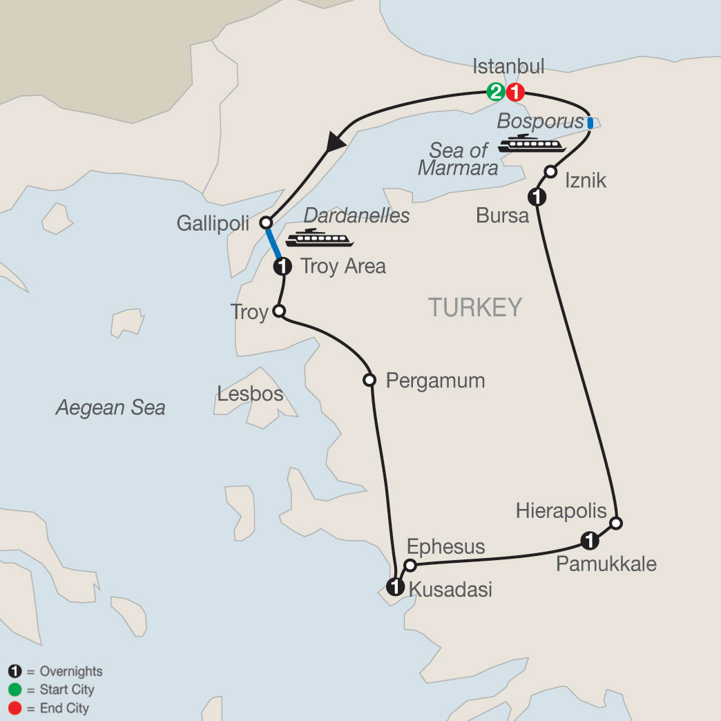 Turkish Escape map