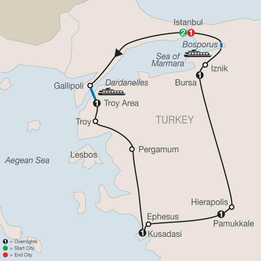 Turkish Escape map