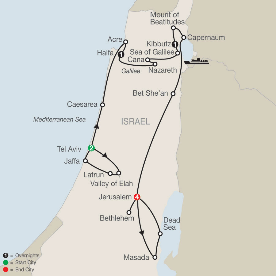 Fascinating Israel map