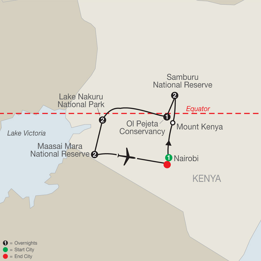 Kenya: A Classic Safari map