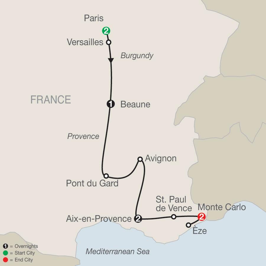 French Sampler map