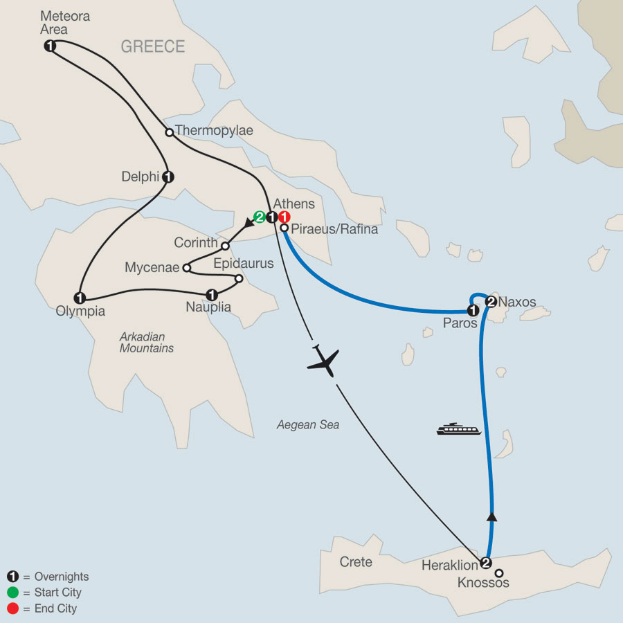 Classical Greece Plus Greek Island Adventure