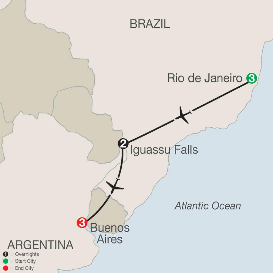 South America Getaway map