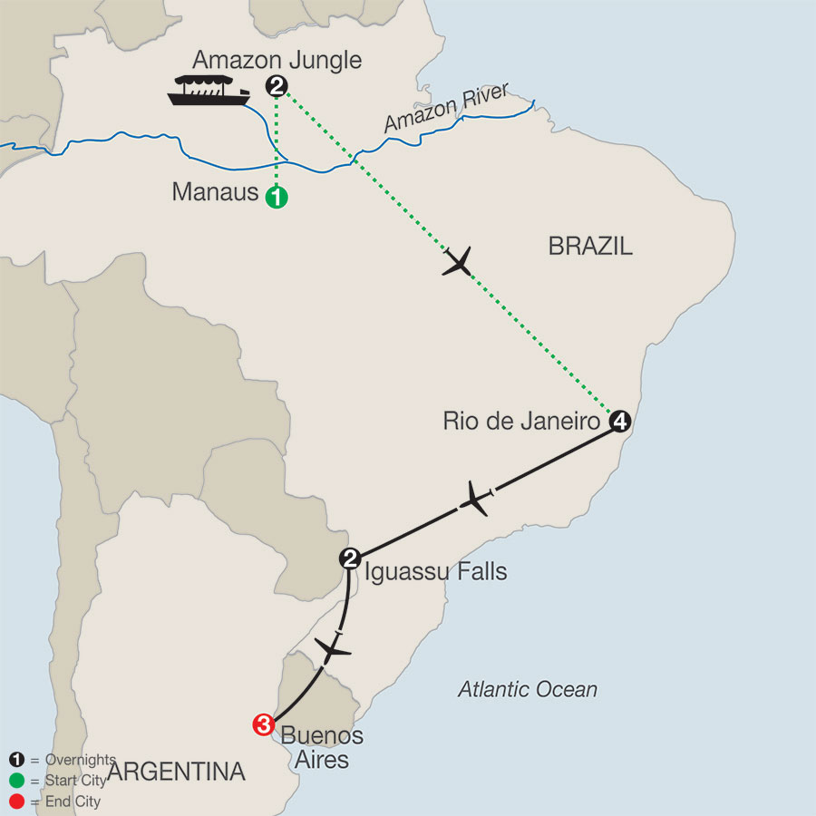 South America Getaway with Amazon