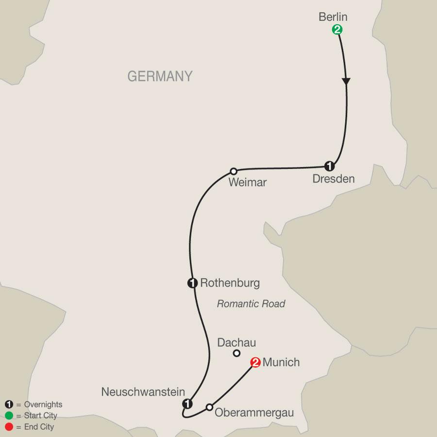 German Vista map