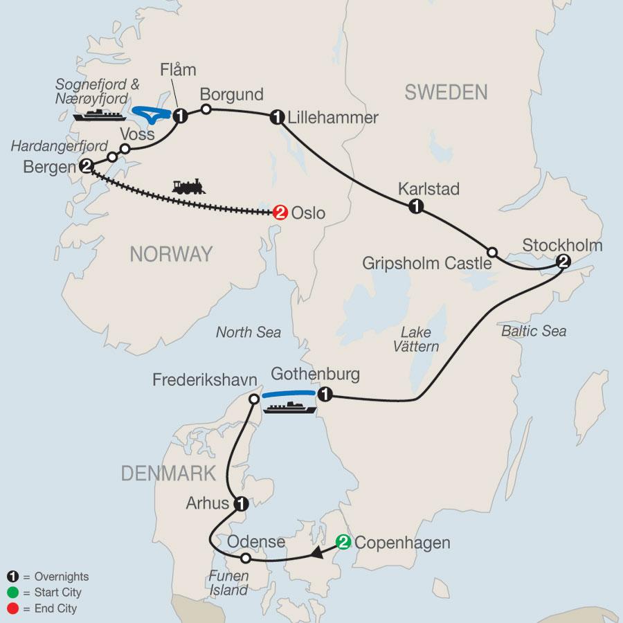 The Scandinavian map