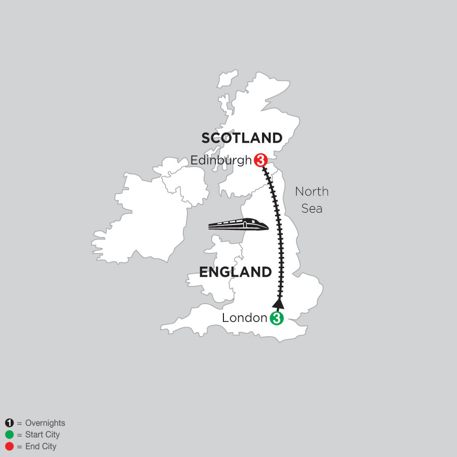 3 Nights London & 3 Nights Edinburgh