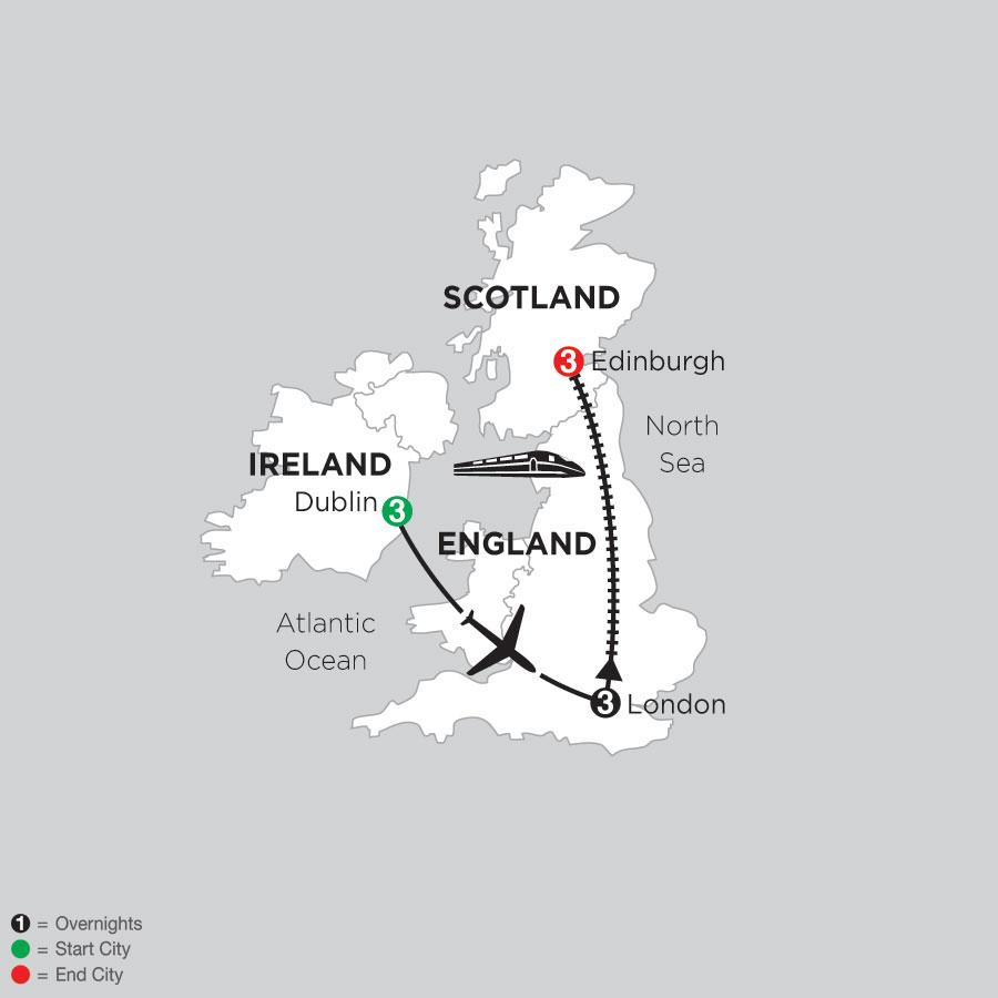 3 Nights Dublin, 3 Nights London & 3 Nights Edinburgh