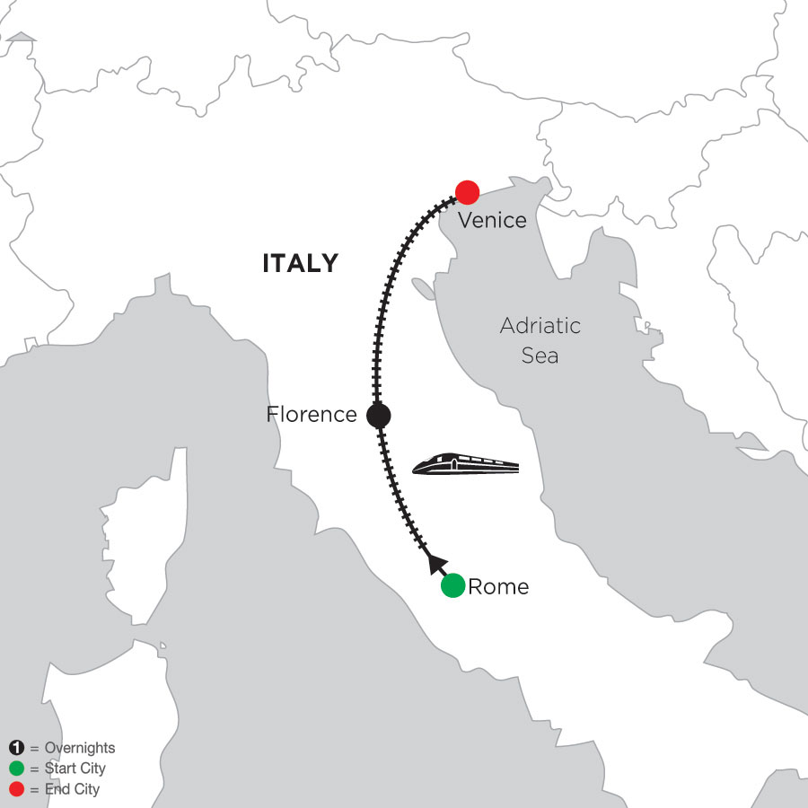 3 Nights Rome, 3 Nights Florence & 3 Nights Venice