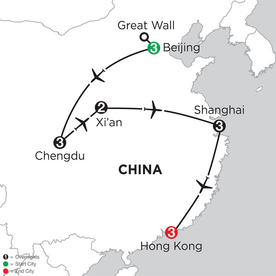 Essential China with Chengdu & Hong Kong