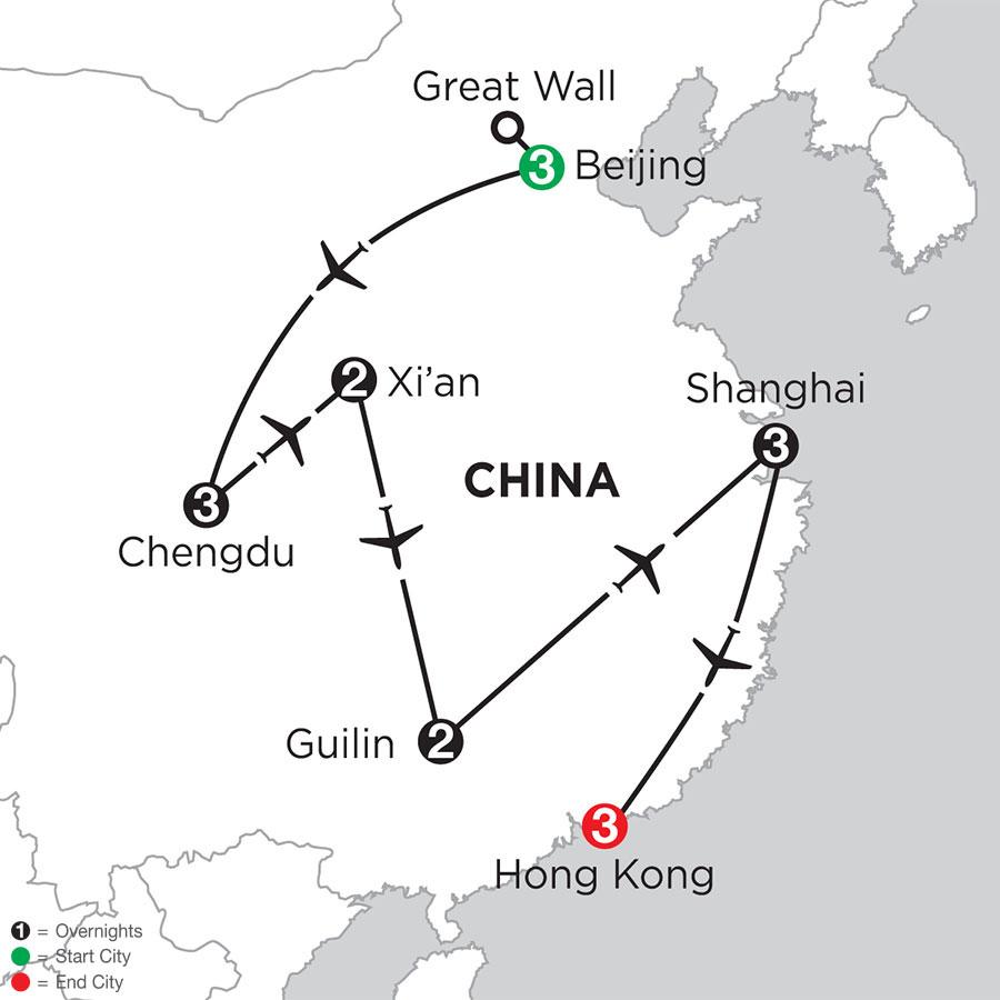 Essential China with Chengdu, Guilin & Hong Kong