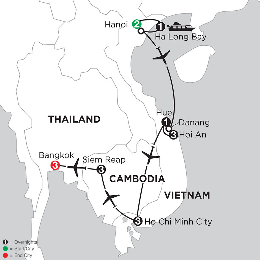Enchanting Vietnam with Siem Reap & Bangkok
