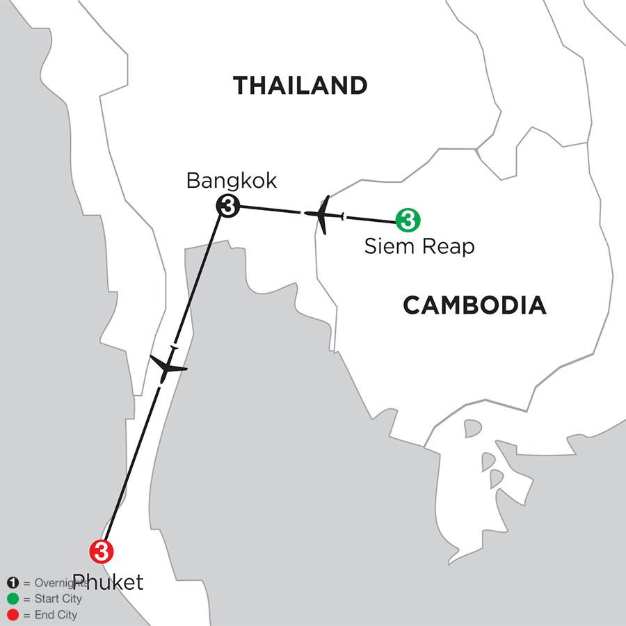 Siem Reap, Bangkok & Phuket