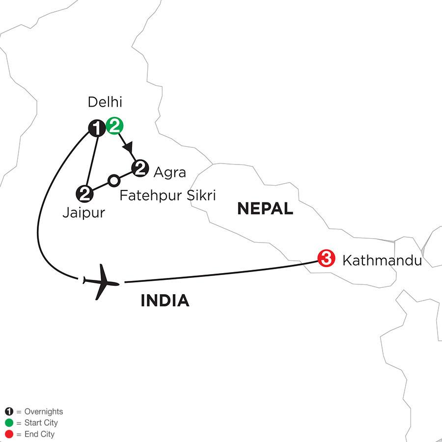 Indias Golden Triangle with Kathmandu