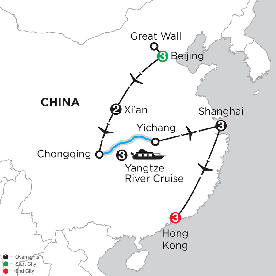 Heart of China & The Yangtze with Hong Kong