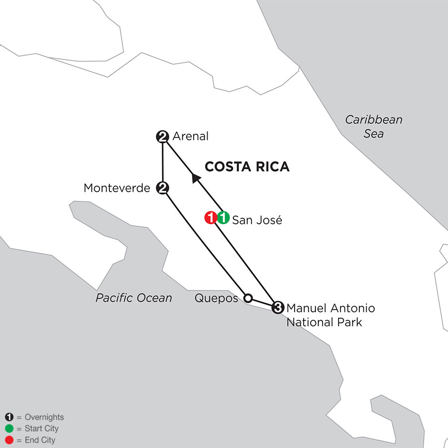 Costa Rica Wonders with Manuel Antonio