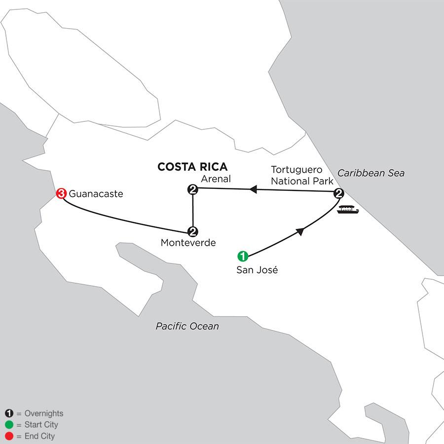 Costa Rica Wonders with Tortuguero & Guanacaste