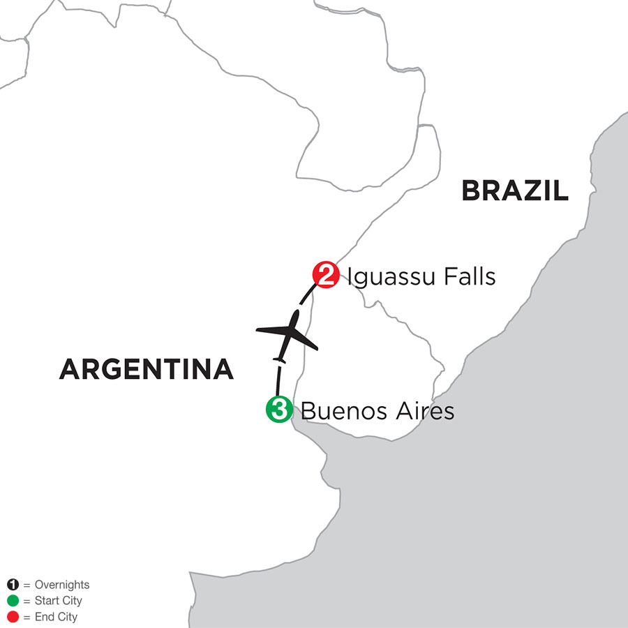 Buenos Aires Getaway with Iguassu Falls