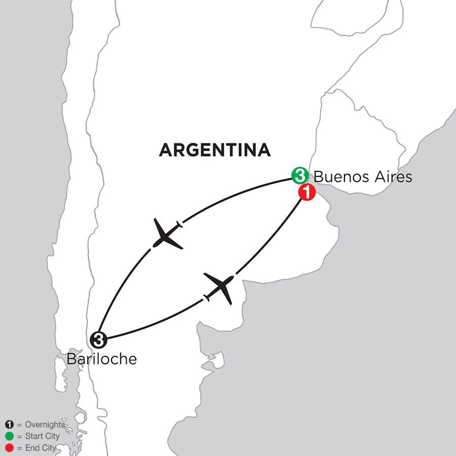 Buenos Aires Getaway with Bariloche