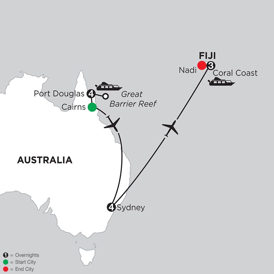 Great Barrier Reef & Sydney with Fiji