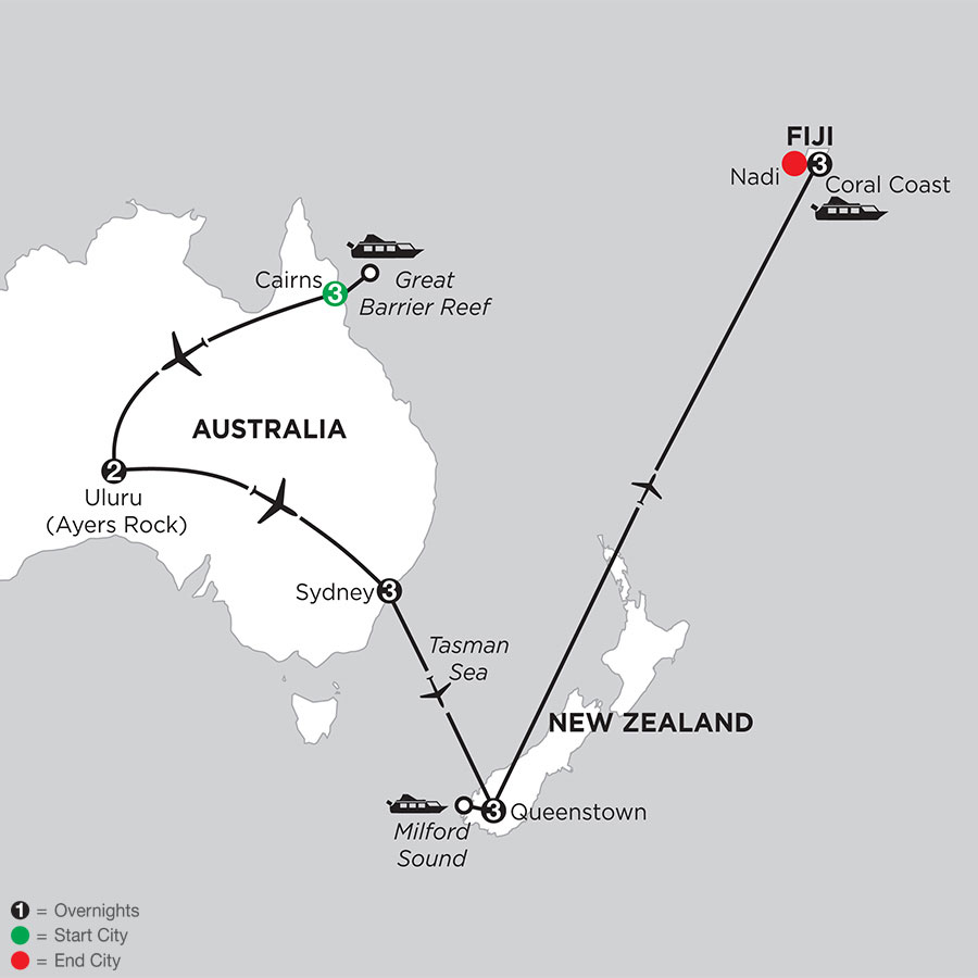 Journey Down Under with Queenstown & Fiji
