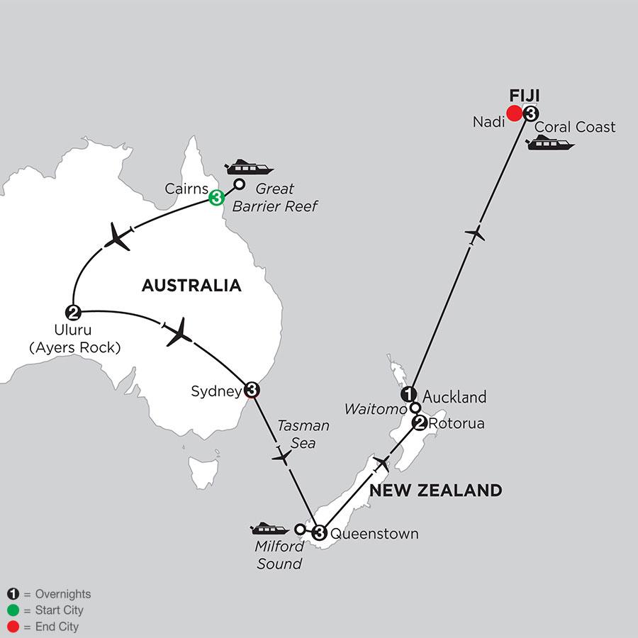 Best of Australia & New Zealand with Fiji
