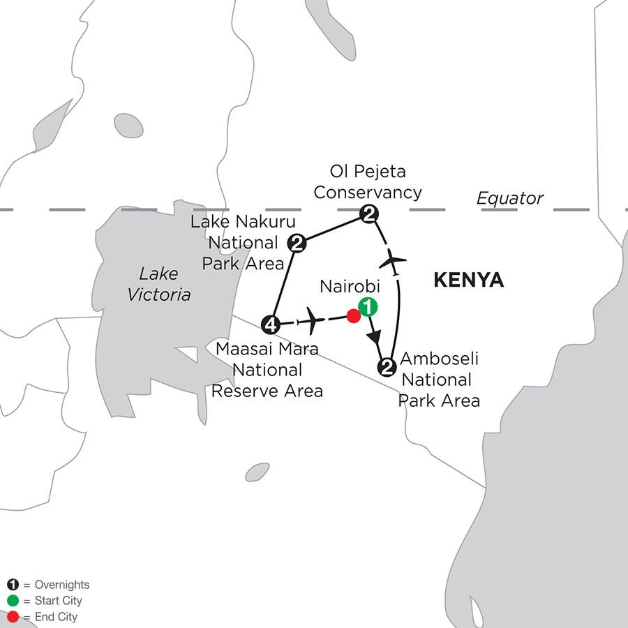 Kenya Private Safari with Amboseli National Park & Stay in Maasai Mara