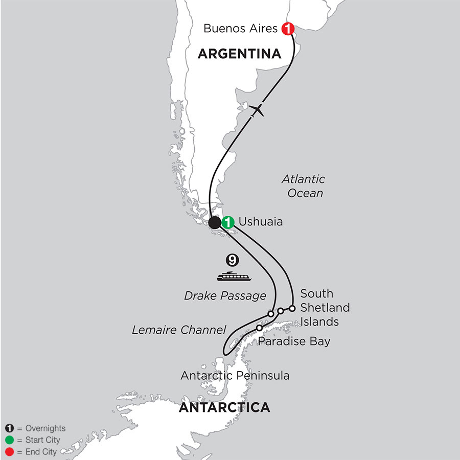Voyage to Antarctica with Post–Stay in Buenos Aires
