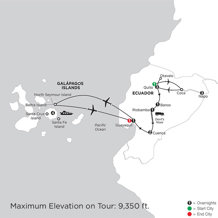 Ecuador Discovery with Ecuadors Amazon & the Finch Bay in the Galápagos