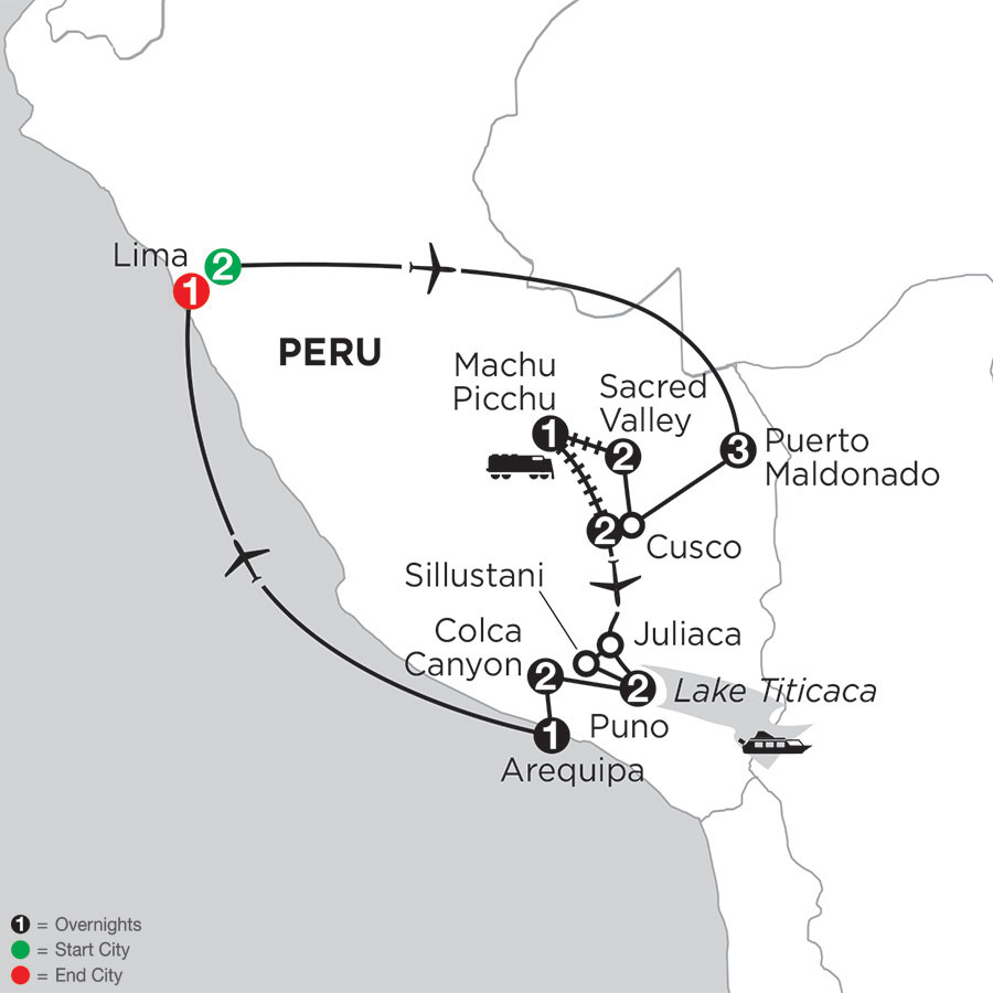 Perus Amazon & the Arequipa & Coca Canyon