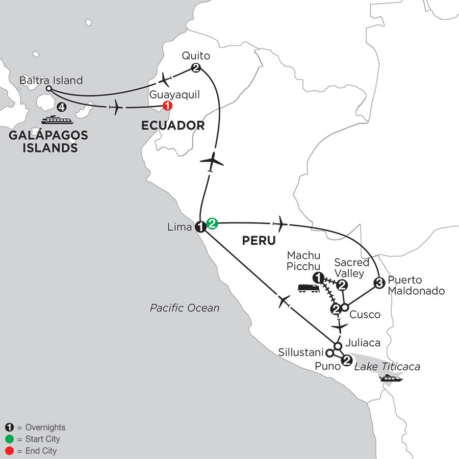 Perus Amazon & the Andes with Galápagos Cruise on the Santa Cruz II