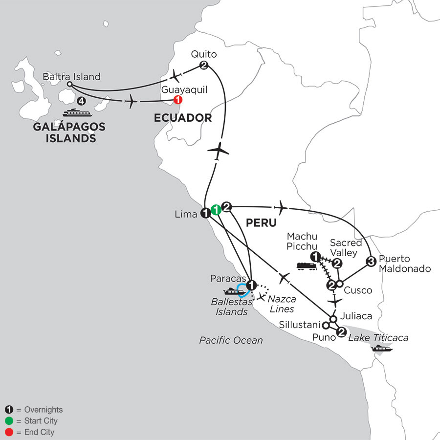 Perus Amazon & the Andes with Nazca Lines & Galápagos Cruise on the Santa Cruz II