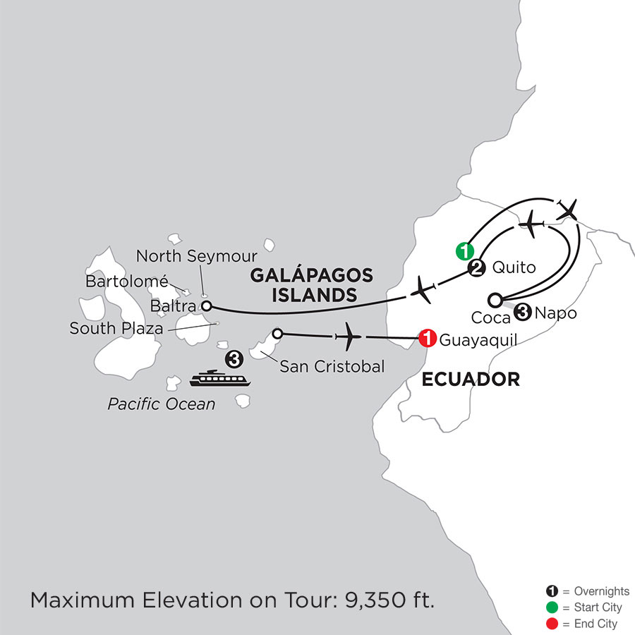 Cruising the Galápagos on the Galápagos Legend with Ecuadors Amazon