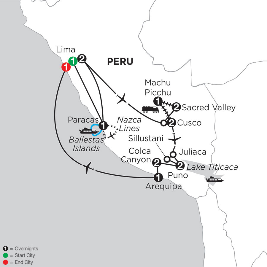 Andean Journey Nazca Lines, Arequipa & Colca Canyon