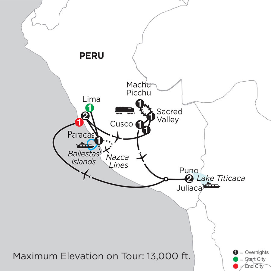 Peru Highlights with Nazca Lines & Lake Titicaca