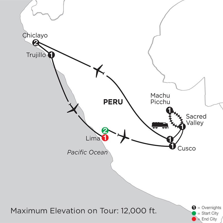 Peru Highlights with Chiclayo & Trujillo