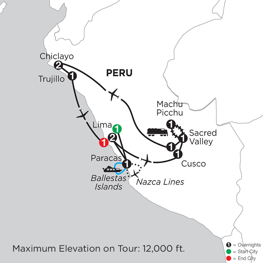 Peru Highlights with Nazca Lines, Chiclayo & Trujillo