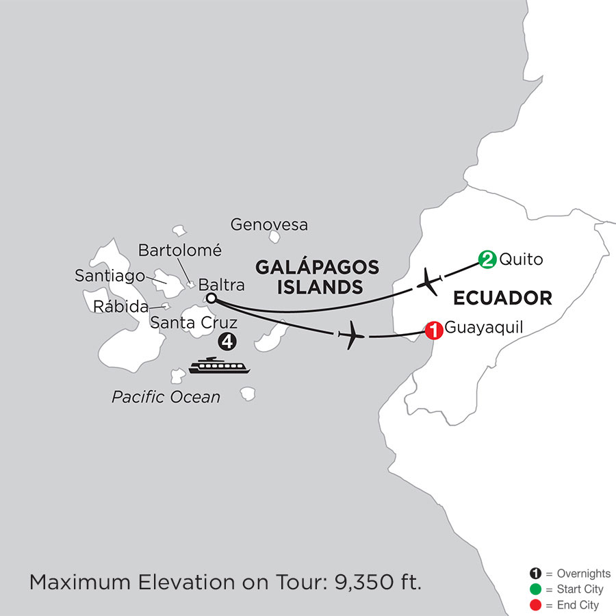 Cruising the Galápagos on board the Santa Cruz II
