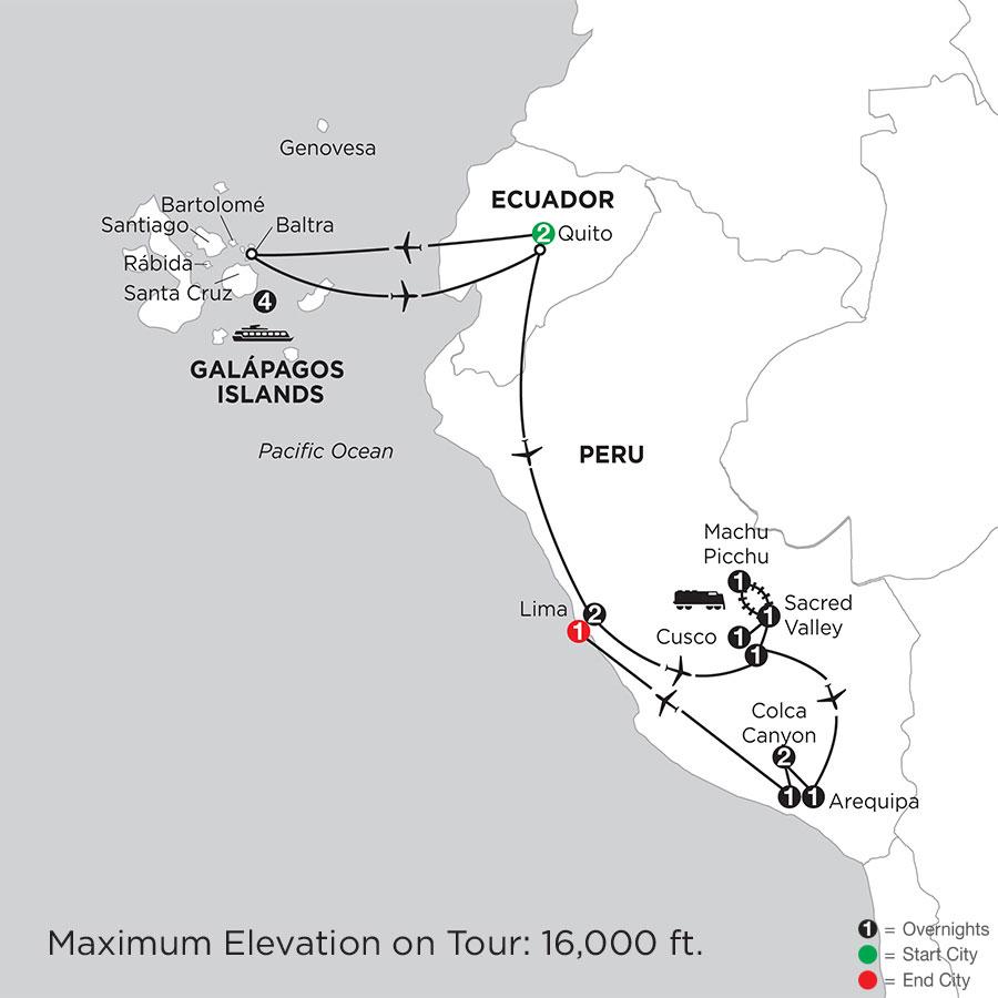 Cruising the Galápagos on board the Santa Cruz II with Peru, Arequipa & Colca Canyon
