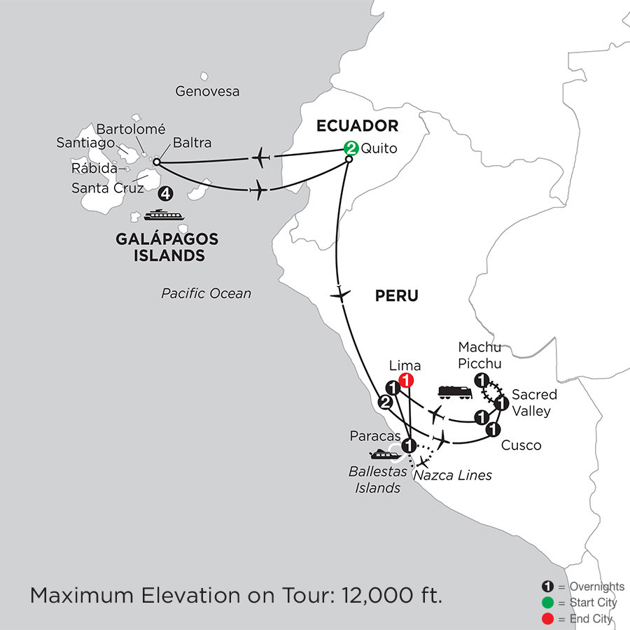 Cruising the Galápagos on board the Santa Cruz II with Peru & Nazca Lines