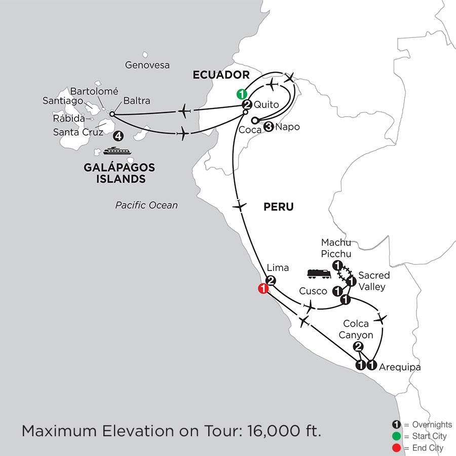 Cruising the Galápagos on board the Santa Cruz II with Peru, Ecuadors Amazon, Arequipa & Colca Canyon