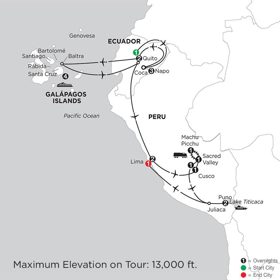 Cruising the Galápagos on board the Santa Cruz II with Peru, Ecuadors Amazon & Lake Titicaca