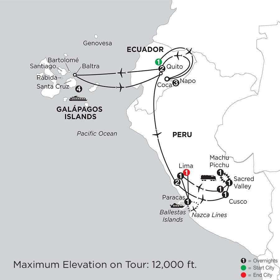 Cruising the Galápagos on board the Santa Cruz II with Peru, Ecuadors Amazon & Nazca Lines